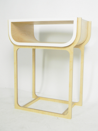 Isaac berbiers manchester school of art degree show 2012 for Plywood bedside table