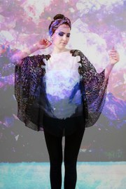 Louise Adele Whitaker - 'Night and Day' Batwing top