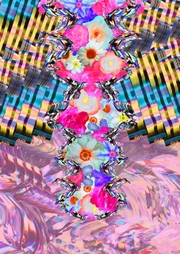 Louise Adele Whitaker - 'Floral Fissure' print design