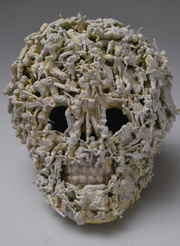 Joel Moore - Skull made from army men