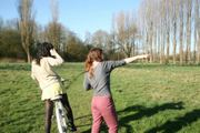 Jodie Thackray - Me directing actress for bike riding scene