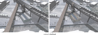 Irina Adam - Clothed Castlefield - Visualisations of the building before and after the exterior insulation is installed.