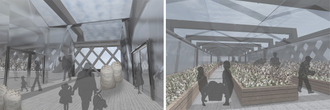 Irina Adam - Interior views of the greenhouse that grows cotton for the fashion workshop.