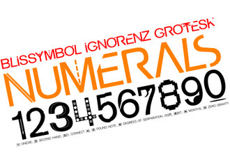 Luke Buckley - Blissymbol Ignorenz Grotesk Numerals