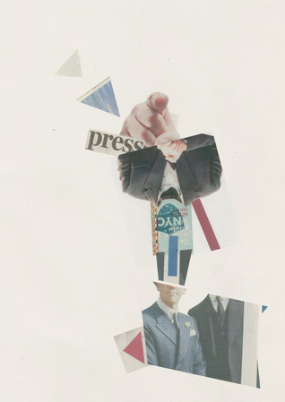 Chloe Chadwick - Cut. Paste. Re-create. Collages of daily news merged into visual narratives.