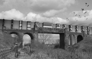 Mariam Iqbal - External view of building on bridge