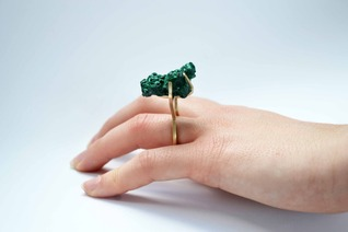 Siobhan Doran - Malachite Raised ring