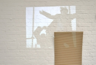 Lewis Davies - Jump Back, Spring Forward, 2014, Manchester School of Art, Data Projector, Bendy MDF