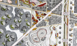 Julia Steinberg - Abstract drawing by proposed plan