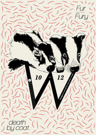 Michael Chan - A live brief outlining the cruelty and moral conflict between fashion and animal fur. So my mashed illustration of badgers conveys just how fur is unnatural as you can distinguish three badger heads, but it is also slightly abstract.