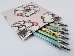 Jessica Brown - Gift Bag and Printed Ballpoint pens.