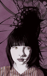 Jennifer Quinn - Illustration for short story 'The Spider and the Fly' for Crimelines Anthology