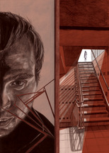 Jennifer Quinn - 'Staircase' Illustration for the Graham Greene novel 'Brighton Rock'