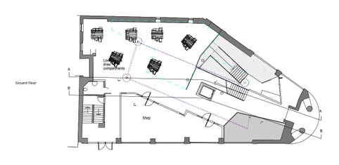 Kristina Gordon - The Cornerhouse  Ground Floor Plan - 1:100 scale